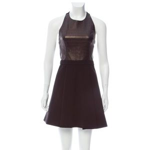 Alice+Olivia leather and cotton dress - XS, 2